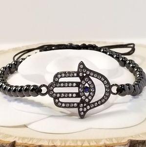 NEW Pave CZ Hamsa Bracelet